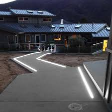 Outdoor Light Strips In Ground Extrusions And Max Waterproof Light Up This