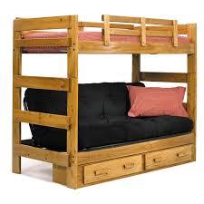 futon queen loft bed full over full futon wooden futon bunk beds