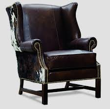 billy wingback leather chair in cowhide arthur chair