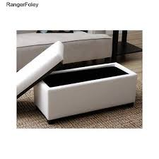 Ottoman Storage Bench White Quilted Faux Leather Ottoman Storage Bench Seat Coffee Table