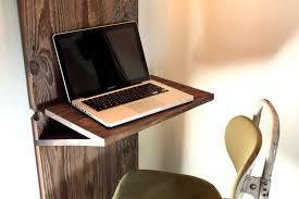 furniture folding brown wooden wall mounted computer desks