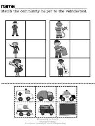 community helpers worksheets preschool google search class