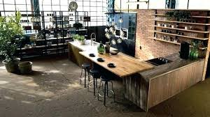 table cuisine en bois table bois brut table cuisine bois brut u tours platre with