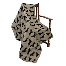 throw by the dog bed in dachshund print designer dog beds cuckooland