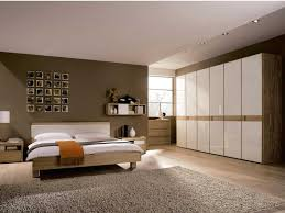bedroom bedroom with brown and white tone with various small
