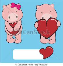 vector clip art pig boy sweet cartoon pig boy