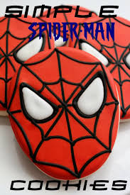 simple spider man cookies u2013 sweet adventures sugar belle