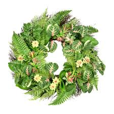 succulent wreath shop for the succulent wreath with leaves by ashland at