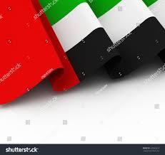 Colors Of Uae Flag 3d Illustration United Arab Emirates Flag Stock Illustration