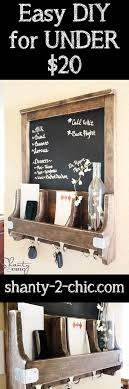 house warming wedding gift idea diy chalkboard and key hooks mail station diy chalkboard and