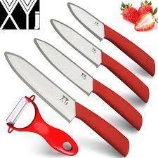xyj white ceramic knife set chef slicing utility paring knife