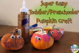 mommy monday preschooler pumpkin craft organized chaos