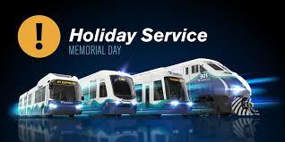 light rail holiday schedule sound transit soundtransit twitter