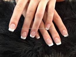 full set of acrylic with white tips nails pinterest