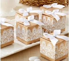 wholesale gift wrap rolls wholesale chic vintage kraft paper candy box with white lace