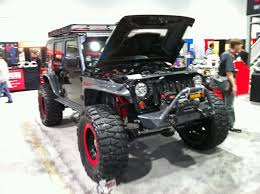 sema jeep yj one black jeep global high performance
