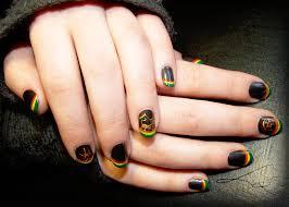 rastaman style nail art by undomiele on deviantart