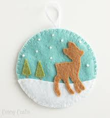 felt ornaments deer and fox felt christmas ornaments cutesy crafts