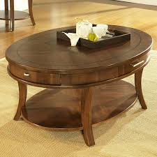 Oval Wood Coffee Tables Interesting Brown Minimalist Oval Wood Coffee Table With Storage