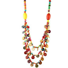 multi color necklace images Beurself wooden beads necklaces multi layer multi color collier jpg