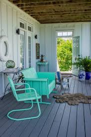 Veranda Metal Patio Loveseat Glider by Best 25 Beach Style Outdoor Gliders Ideas On Pinterest Beach