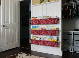 Fabric Sling Bookshelf How To Make Book Slings Domestic Imperfection