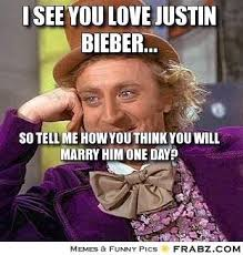I Think I Love You Meme - love justin bieber meme justin best of the funny meme