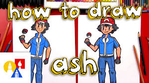 how to draw ash ketchum from pokemon youtube