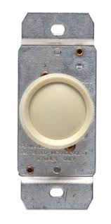 leviton ivory 3 way rotary push on off light dimmer switch 600w