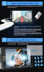 mirror link android 7 inch 2 din mirror link for android gps navigation