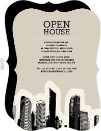 open house invitations blue skyline open house invitation business open house invitations