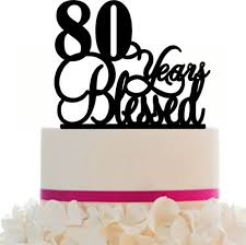 25 cake topper cake topper 80th birthday anniversary personalized 80 years