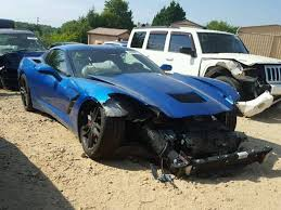 salvage corvette for sale salvage 2015 chevrolet corvette coupe for sale salvage title