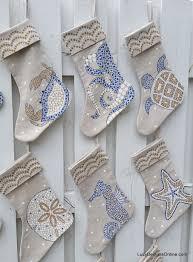 coastal christmas stockings hand painted coastal sea life