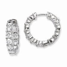 hinged hoop earrings david arlen jewelers quality gold sterling silver rhodium plated