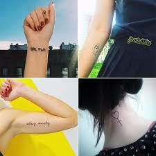 tiny feminist tattoos popsugar love u0026