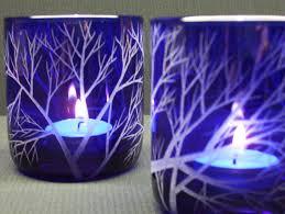 glassdoor spirit halloween best outdoor halloween displays two cobalt blue candle holders