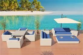 coronado virofiber outdoor wicker sofa dining set las vegas patio