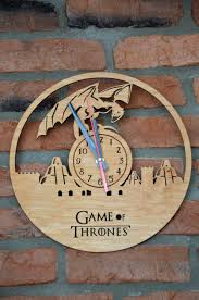 game of thrones wall art wooden clock round hanging home decor