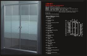 hs srb oem customization size sliding tempered glass door shower