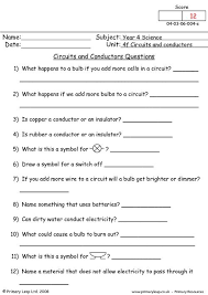 primaryleap co uk circuits and conductors questions worksheet