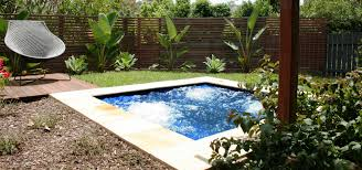 southeastern backyard fiberglass pool and square in ground spa