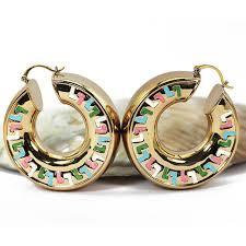 hoops earrings aliexpress buy 50mm big copper hoop earrings for women