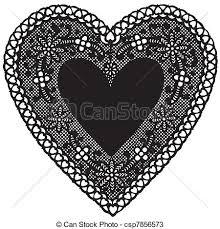 heart doily antique black lace doily heart vintage heart shaped black