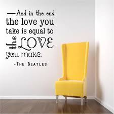 Beatles Quotes Love by Wall Decals Beatles Quotes Color The Walls Of Your House