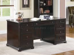 Classic Office Desk Brown Finish Classic Office Desk W Optional Items