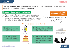 learnhive icse grade 9 physics pressure lessons exercises