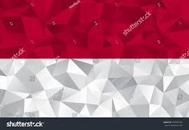 Indonesian Flag Animation Indonesia Flag Abstract Polygon Geometric Shape Stock Vector