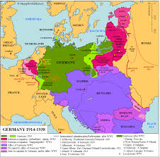 Germany On Map by Germany 1914 1938 Map Stampworldhistory
