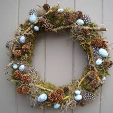 twig wreath easter feather egg and twig wreath by pippa designs